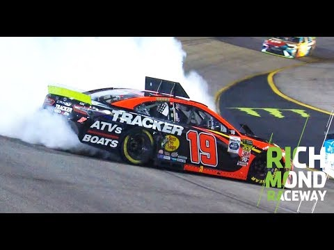 Truex Jr. spins while leading after contact from Stenhouse Jr.: Richmond Raceway