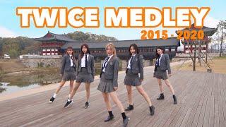 【TWICEメドレーダンス】TWICE MEDLEY Dance Cover (2015~2020) 制服で踊ってみた!in 慶州 | Yu Kagawa