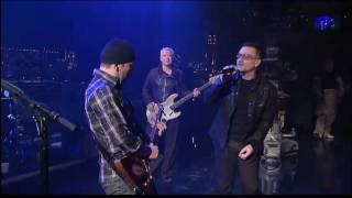 U2 - Beautiful Day Live Letterman 4th Night [HD - High Quality]