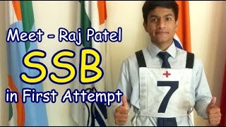 How To Crack NDA    Meet Raj Patel Cleared Ssb Crack In First Attempt