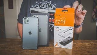 iPhone 11 Pro Max Screen Protector - Spigen EZ Fit