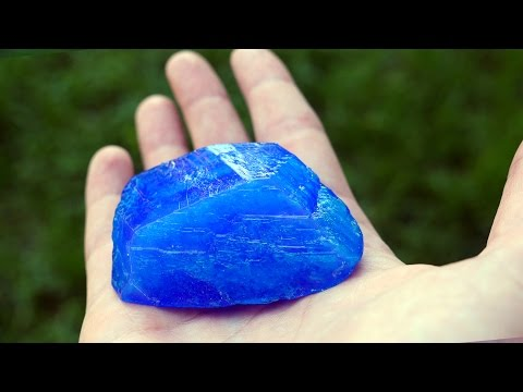 How To Make Your Own Salt Blue Crystal - Amazing Science Experiments with Home Science