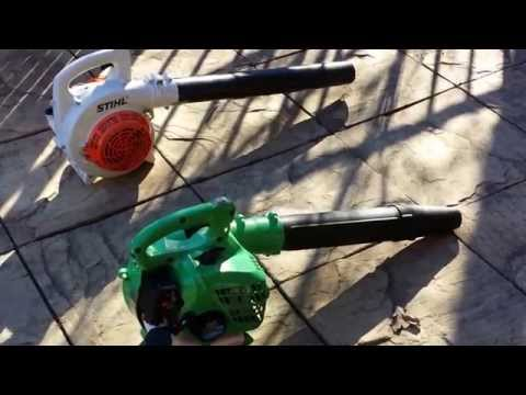 Leaf blower review Stihl vs Hitachi vs Dolmar + Shindaiwa 802 backpack