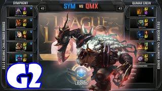 Qlimax Crew vs Symphony Game 2 | 2015 Oceanic Challenger Series pre-season W2D1 | QMX vs SYM G2