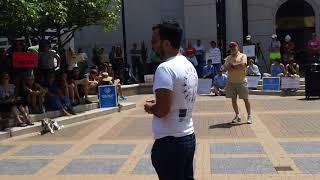 UVA Law School Graduate Sam Shirazi Speaks at Arlington Rally (8/13/17)
