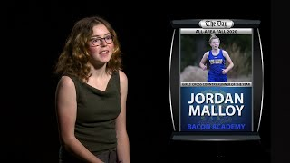 Jordan Malloy - All-Area Girls' Cross-Country Runner of the Year