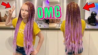 CRAZY BOX BRAID HAIR TRANSFORMATION!!