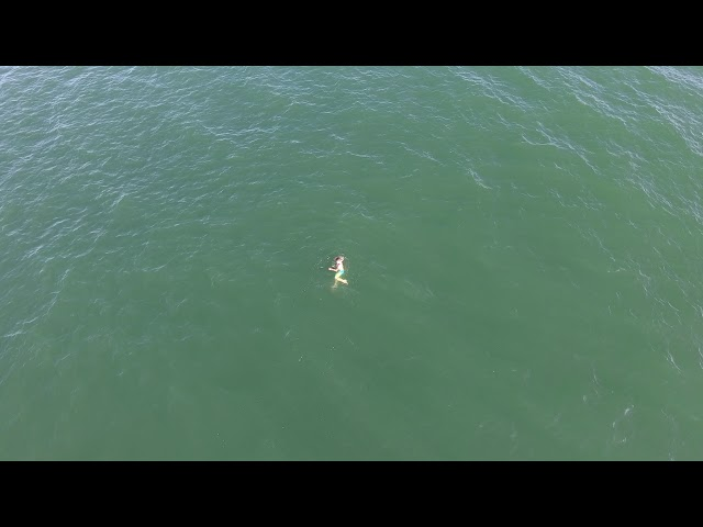 Police drone video showing the swimmer.