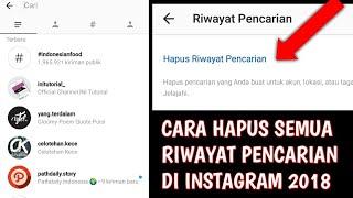 Cara Terbaru Menghapus Riwayat Pencarian Instagram 2018