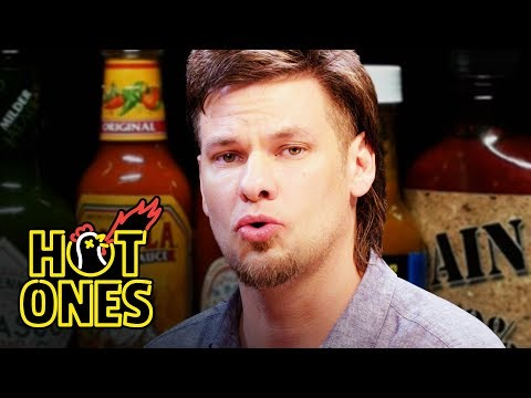 Theo Von Fights the Dark Arts While Eating Spicy Wings | Hot Ones
