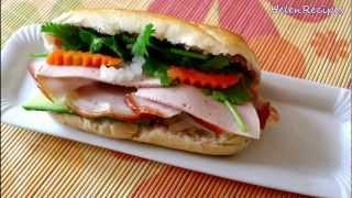 How to make Vietnamese Sandwich - Bánh mì thịt nguội