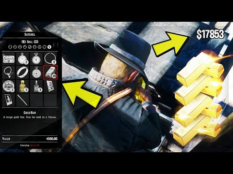 Red Dead Redemption 2 - UNLIMITED MONEY GLITCH! DUPLICATE GOLD BARS