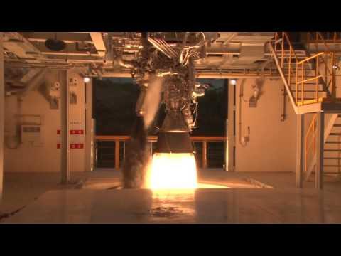 한국형발사체 75톤급 액체엔진 시험모델 1호기 연소시험(75초) 근접영상