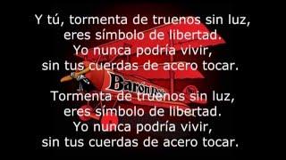Barón Rojo_Cuerdas de Acero_Letra