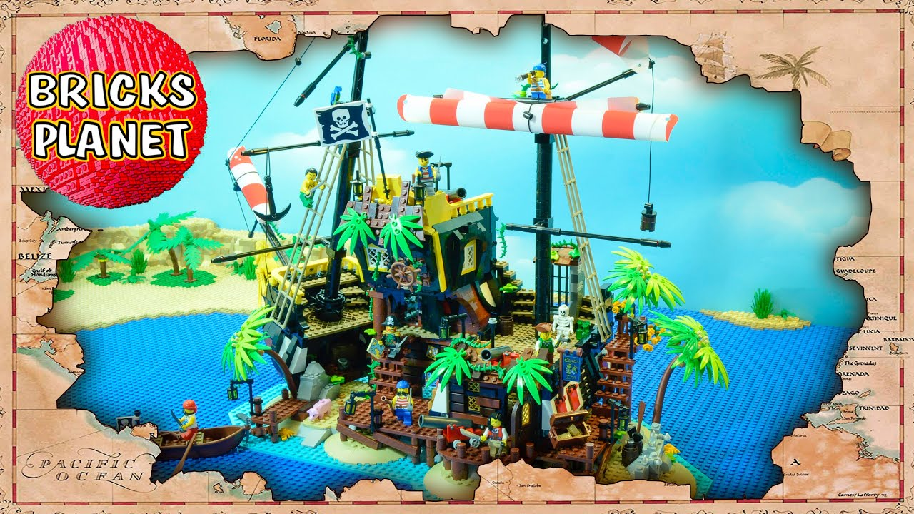 Pirates of Barracuda Bay 21322 LEGO Ideas - Stop Motion Review