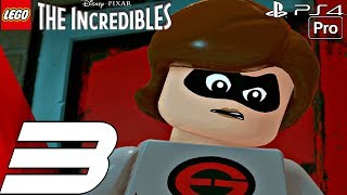 LEGO The Incredibles - Gameplay Walkthrough Part 3 - House Party & Screenslaver Boss Fight (PS4 PRO)