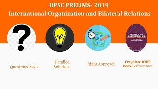 Lecture 2- 2019 UPSC Prelims International Organisations Questions along with Detailed Solutions
