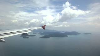 preview picture of video 'Landing at Langkawi International Airport (Langkawi-Malaysia)'