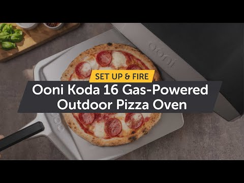 Ooni Koda 16 - Gas-Powered Outdoor Pizza Oven - How to Setup & Light it