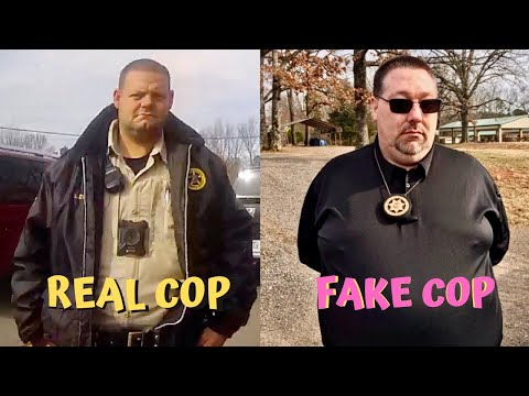 Fake cop gets busted hard !