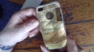 Золотой зеркальный чехол для iphone 5 от компании Интернет-магазин-Модной дешевой одежды. - видео