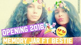 Opening My 2016 MEMORY JAR Ft BESTFRIEND | 2016 Review