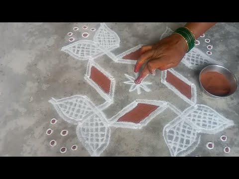Diwali special small all kolam//pandaga muggulu// easy rangoli//23