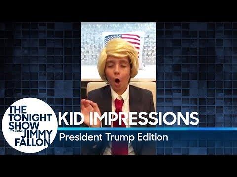 Kid Impressions: President Trump Edition