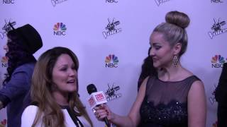 The Voice 2014 DaNica Shirey talks about mother guilt with Aria Johnson