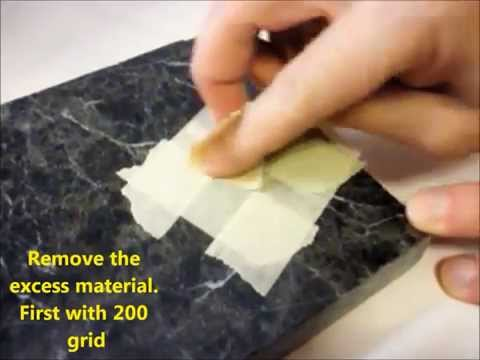 Repair a chip in granite counter top - fast and easy diy repair/professional results