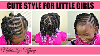Cute Style For Little Girls | Kids Natural Hair Care