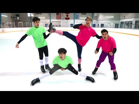 FUNNY ICE SKATING COMPETITION!