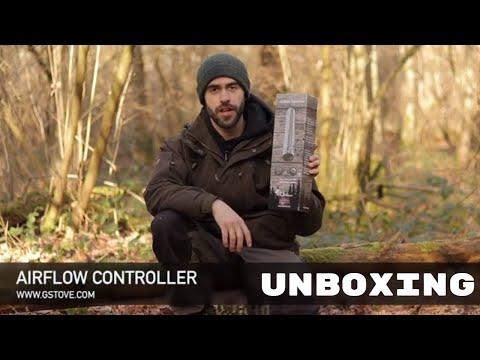 Колено дымохода с шиберной заслонкой / Airflow Controller