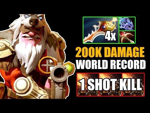 CRAZY! 200K Damage Sniper 4x Divine Rapiers Epic Game Vs Juggernaut Full Slot Gameplay Dota 2 7.24