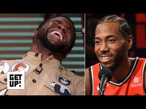 Kevin Hart reacts to Kawhi Leonard's laugh | Get Up!