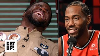 Kevin Hart reacts to Kawhi Leonard