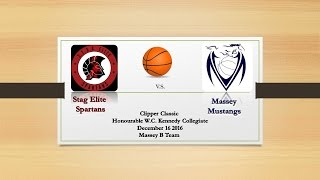 2016 Clipper Classic Stag Elite Spartans vs Massey Mustangs B Team