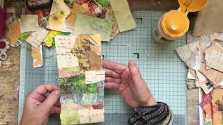 "Autumn Art Journal ""The Tags From Scraps"" PART 1"