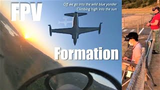 Freewing T-33 Jet FPV Formation Training