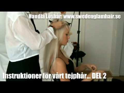 Löshår - hårförlänging - tejphår - hur gör man - instruktioner - del 2