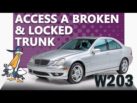 Mercedes-Benz W203 C-Class Broken and Locked Trunk Access