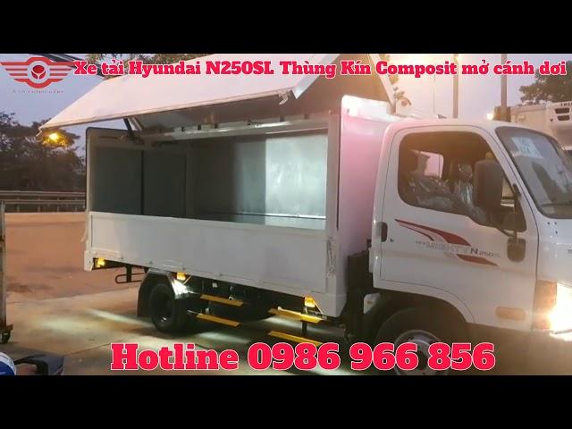 Xe tải Hyundai New Mighty N250SL Thùng Kín Composite mở bửng