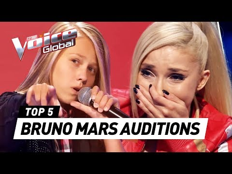 BEST BRUNO MARS Blind Auditions in The Voice Kids