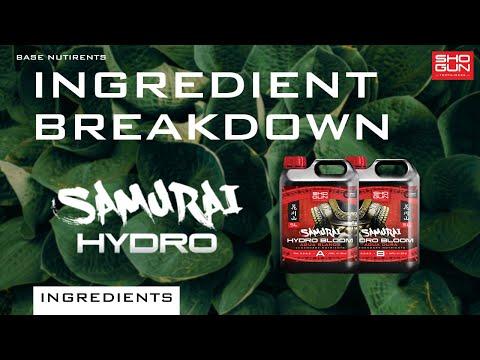 Ingredients Breakdown SHOGUN Samurai Hydro - Base Nutrient