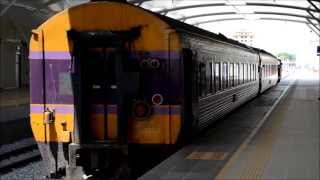 preview picture of video '24/5/2013 KTM / SRT International Express 35 / 36, KM 33.5 Sungai Petani Station'