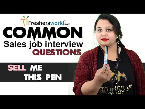 , title : 'Tough sales job interview questions and how to answer them - Answer for Sell me this pen