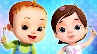 Brushing Your Teeth Song For Kids | Learn Good Habits For Babies | Nursery Rhymes & Kids Songs