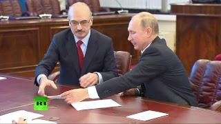 Путин подаёт документы в ЦИК — LIVE