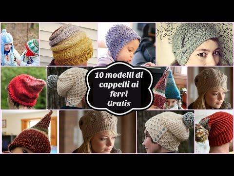 10 modelli di cappelli ai ferri gratis