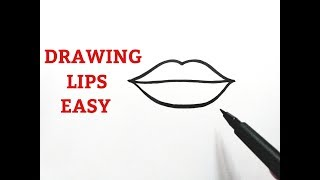 How To Draw Lips Easy For  Beginners Step By Step Tutorial Drawing Lips Easy Step By Step